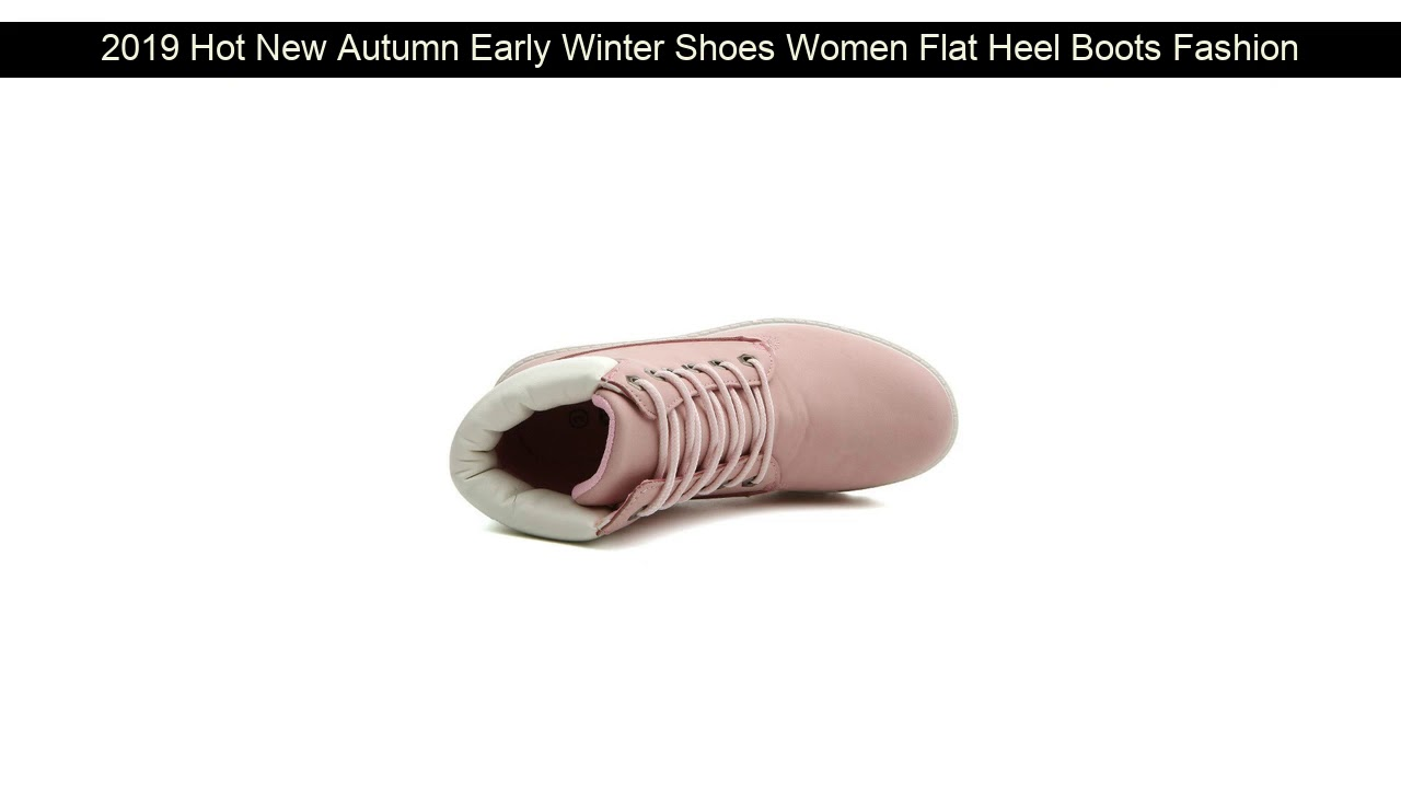 2019 Hot New Autumn Early Winter Shoes Women Flat Heel Boots Fashion Keep warm Women's Boots Brand
