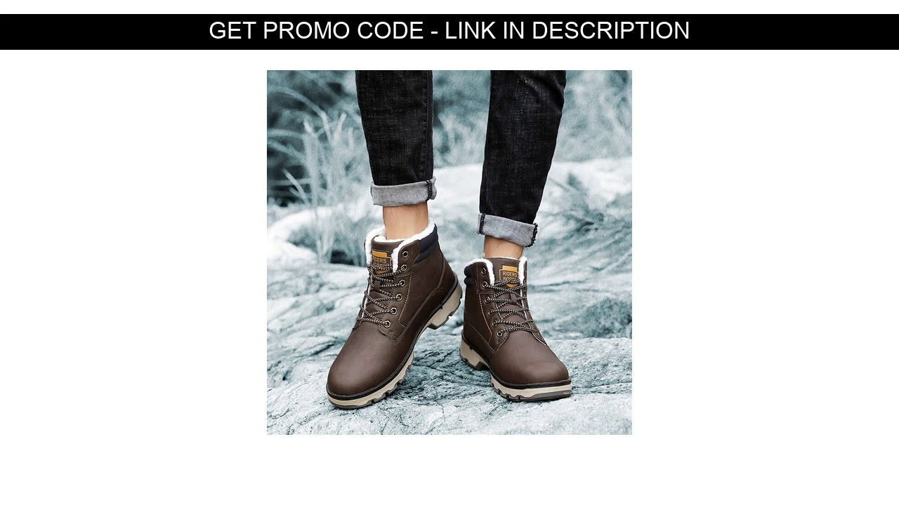 Review  Men Outdoor Male Hiking Boots Work Shoes Winter Snow Boots Warm Super Men High Quality Wate
