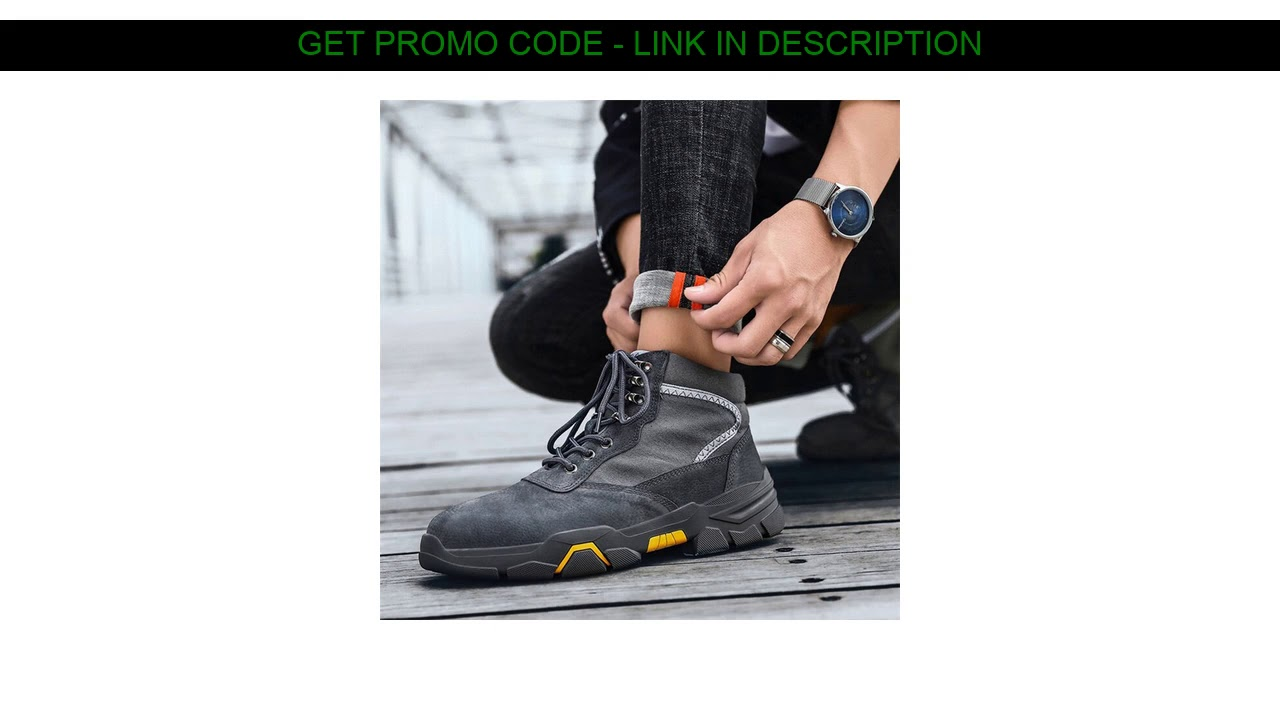 Review  Hiking Boots for Men Rubber Bottom Sole Sports Shoes Durable Breathable Winter Snow Outdoor