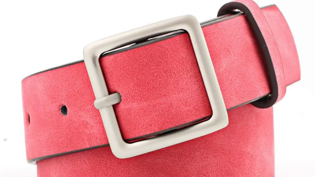 2019 New Designer Black Red White Wide Leather Belt Waistband Female Vintage Square Pin Buckle Wa…