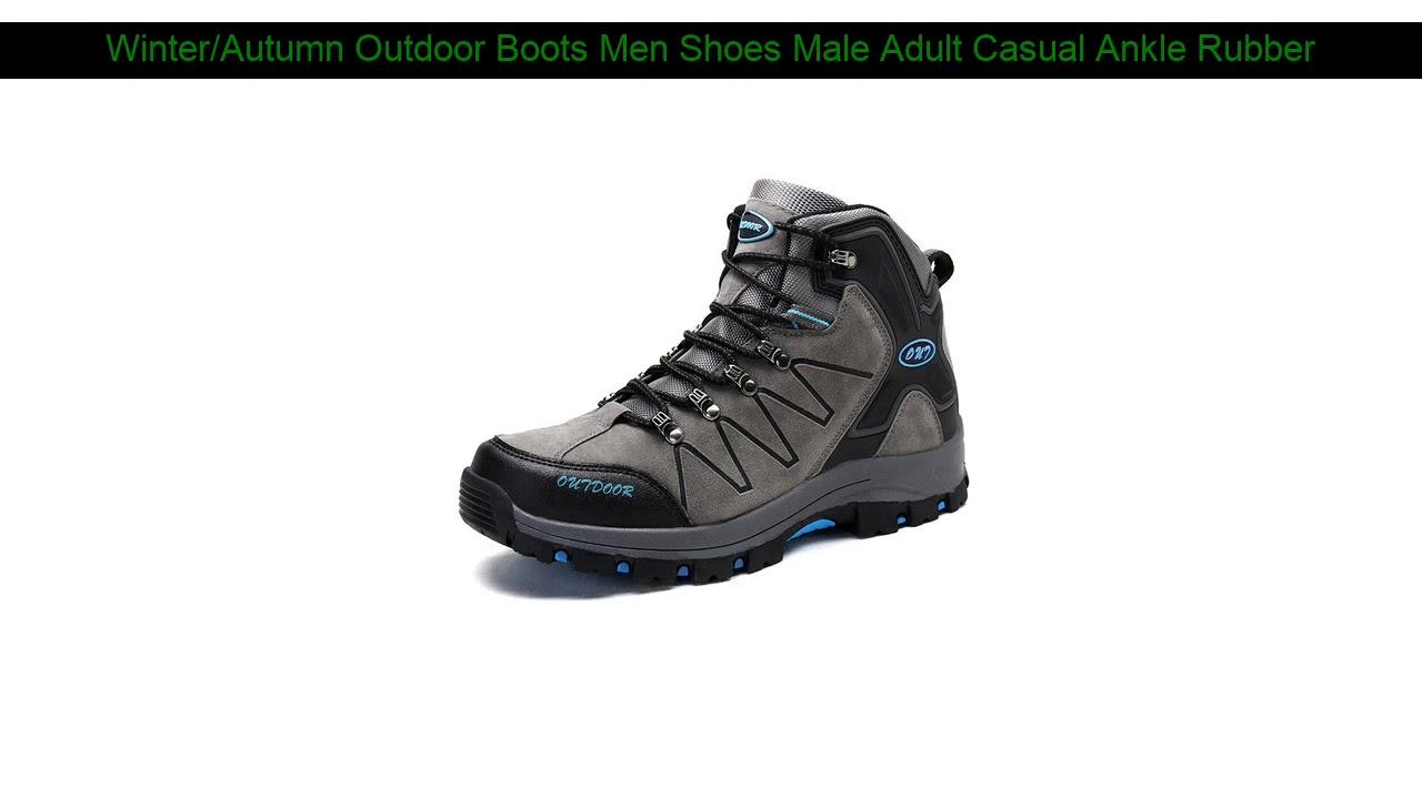 Winter/Autumn Outdoor Boots Men Shoes Male Adult Casual Ankle Rubber Anti-Skidding Boots Men work