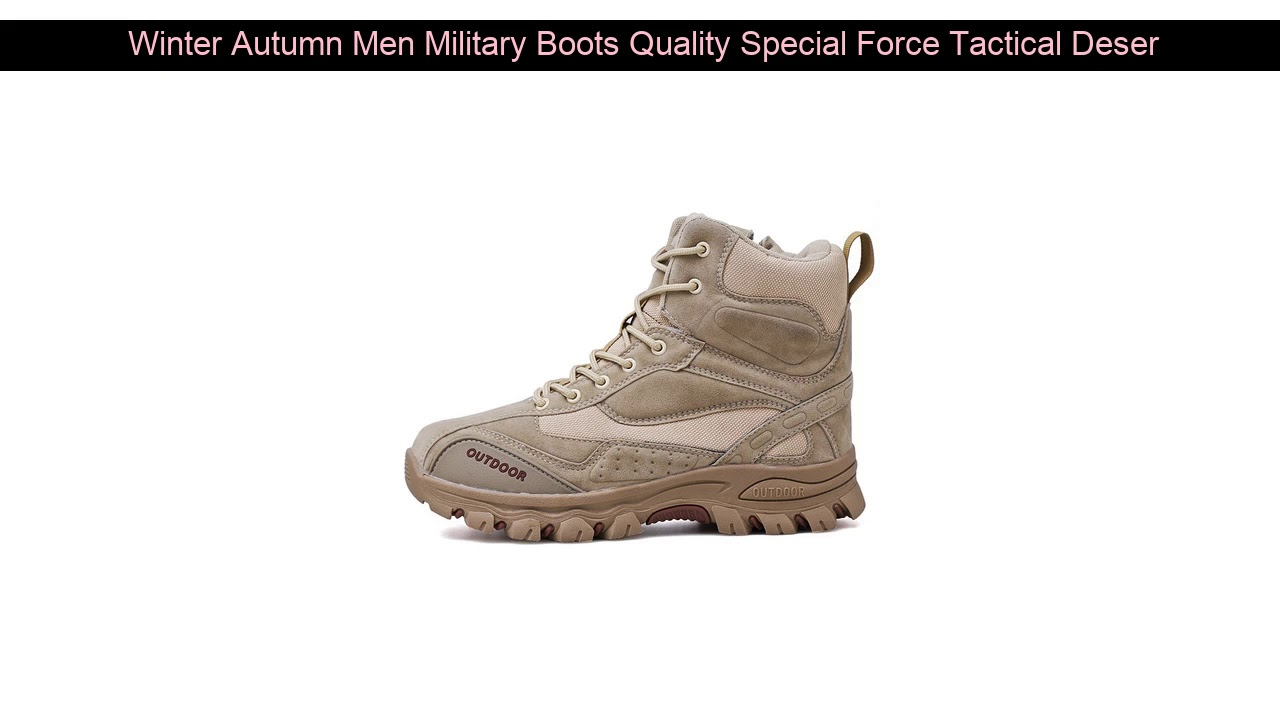 Winter Autumn Men Military Boots Quality Special Force Tactical Desert Combat Ankle Boats Army Wor