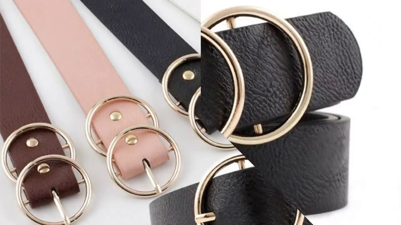 BLA Fashion leather Belt for Women Round Pin buckle Casual Adjustable Belts For Jeans Students Fe…