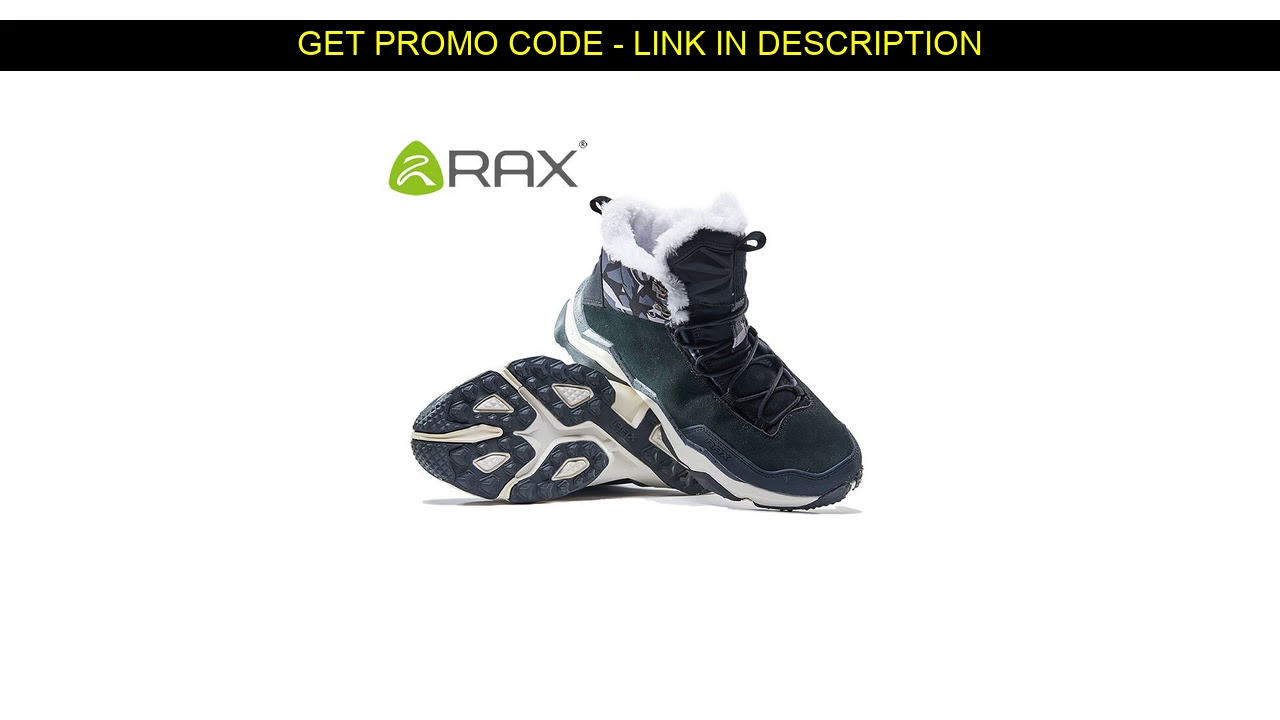 Get This  RAX Waterproof Hiking Shoes Men Winter Outdoor Sneakers for Men Snow Boots Plush Mountain