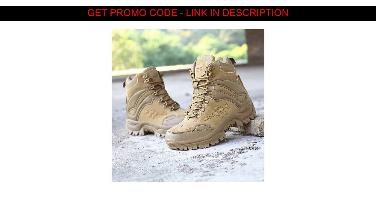 Cheap  Black Desert Military Tactical Boots Men Army Outdoor Hiking Boot Winter Men Fashion Casual