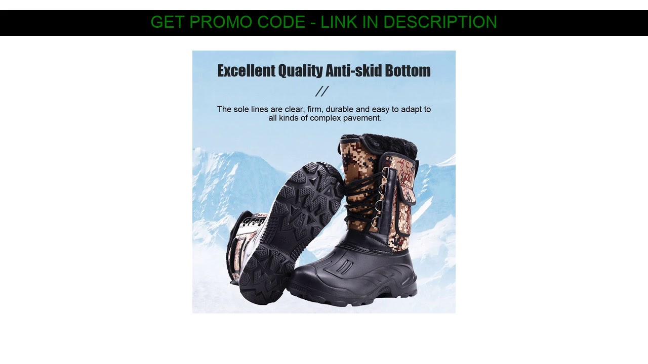 Buy  Men Winter Snow Boots Waterproof Insulated Outdoor Hunting Hiking Shoes TS95