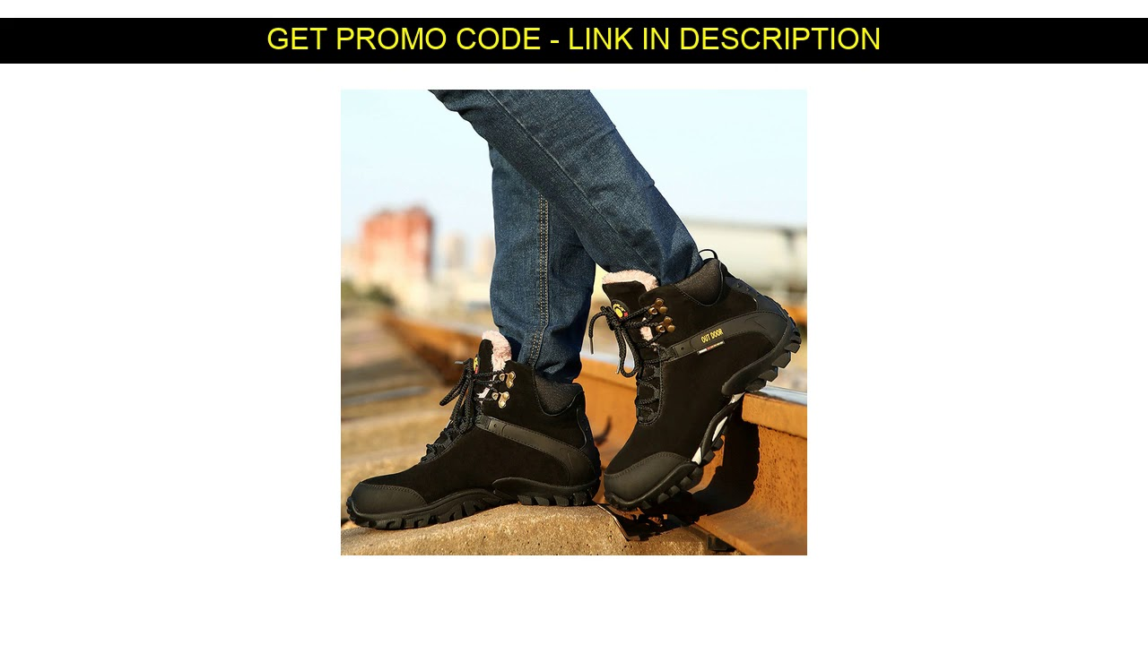 Get This  Winter Outdoor Martin Boots Warm Cotton Shoes Hiking Snow Boots Men's Shearlling New Men'