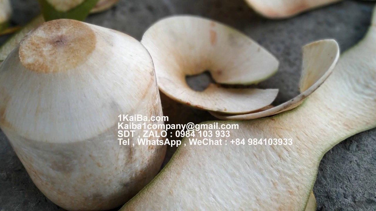 Fresh coconut peelers are shipped worldwide from Vietnam