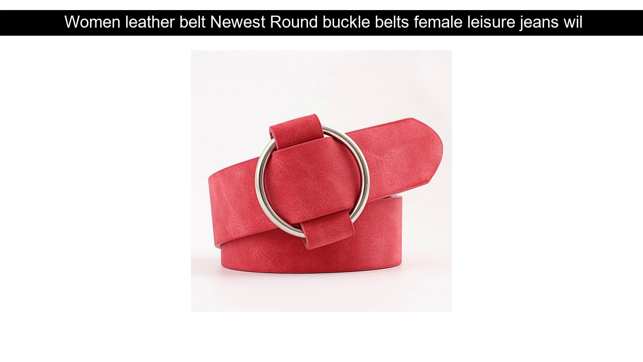 Women Leather Belt Newest Round Buckle Belts Female Leisure Jeans Wild Without Pin Metal Buckle Wo