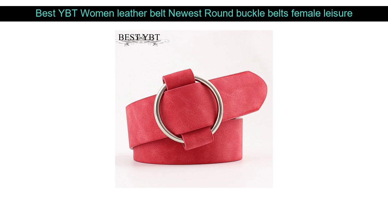 Best YBT Women Leather Belt Newest Round Buckle Belts Female Leisure Jeans Wild Without Pin Metal