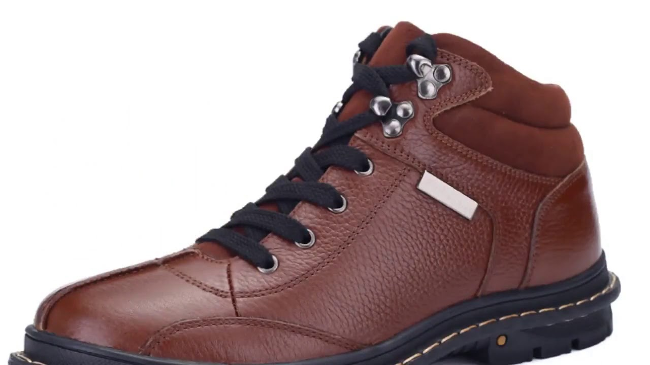 Handmade Genuine Leather Men Boots Cow Leather Winter Boots Size 37 47 Russian Style Men Snow Boo…