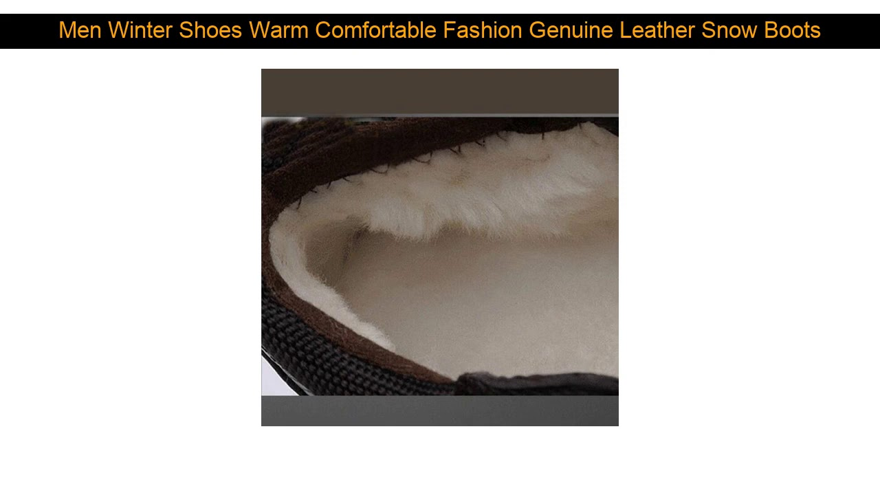 Men Winter Shoes Warm Comfortable Fashion Genuine Leather Snow Boots Waterproof Boots Men's wool P