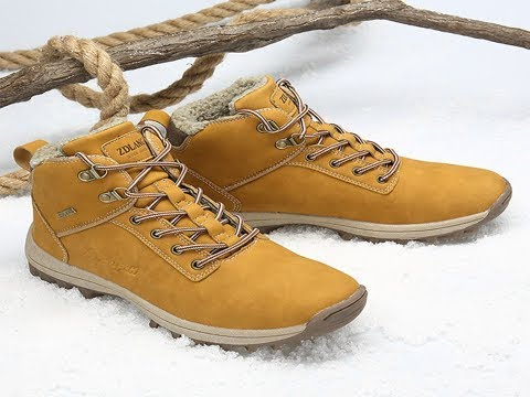 Lixada Shoes Men Boots Sneakers Anti Skid Outdoor Snow Winter Boots with Warm Inner Lining Casual