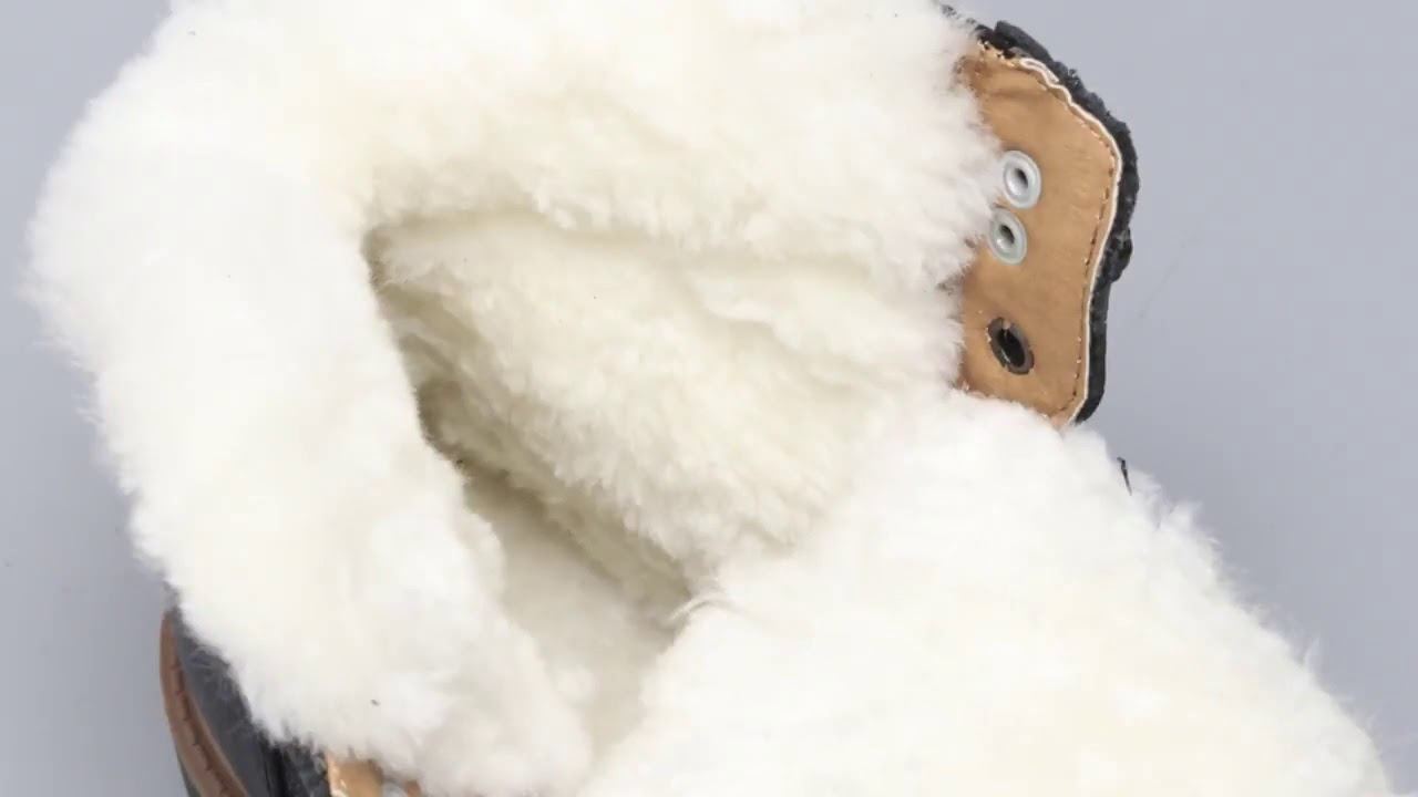 Natural Wool Snow boots Size 35~48 Warmest Genuine Leather Russian Style Men Winter Snow Boots #Y…