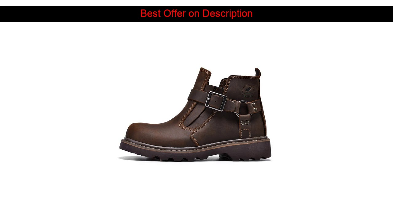5% Boots Men Winter Warm Snow Shoes Mens Leather Shoe Ankle Cowboy Waterproof shose Man Motorcycle