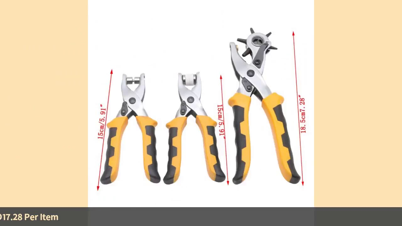 3Pcs/Set Multifunctional Punch Hand Plier Duty Leather Belt Hole With 200 Grommets Drop Ship-in P…