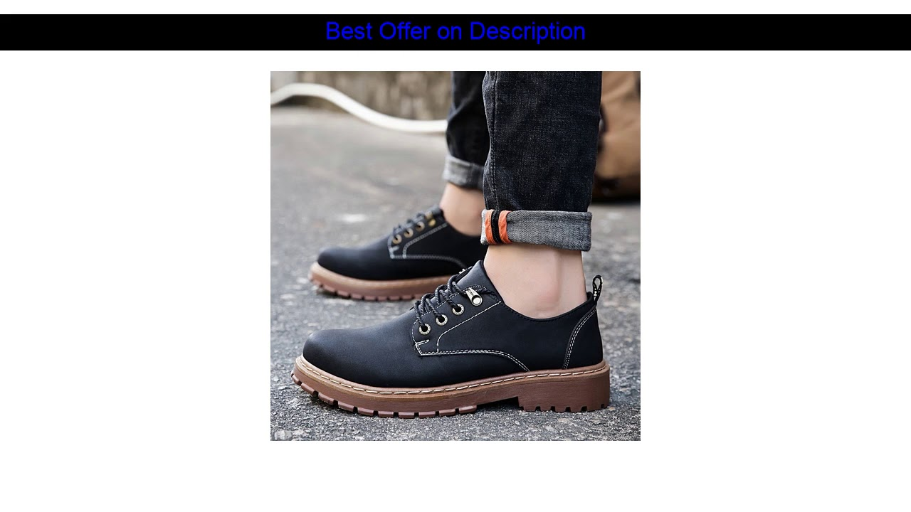 [Limited Offer] Autumn Winter Boots Men Martin Shoes Casual Leather Boots Mens Dr Martins Leather S