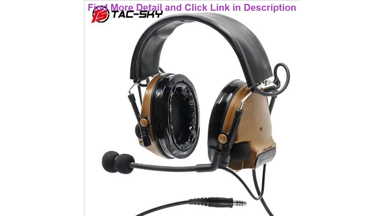Slide COMTAC III TAC-SKYcomtac iii silicone earmuffs noise reduction pickup air gun military shooti