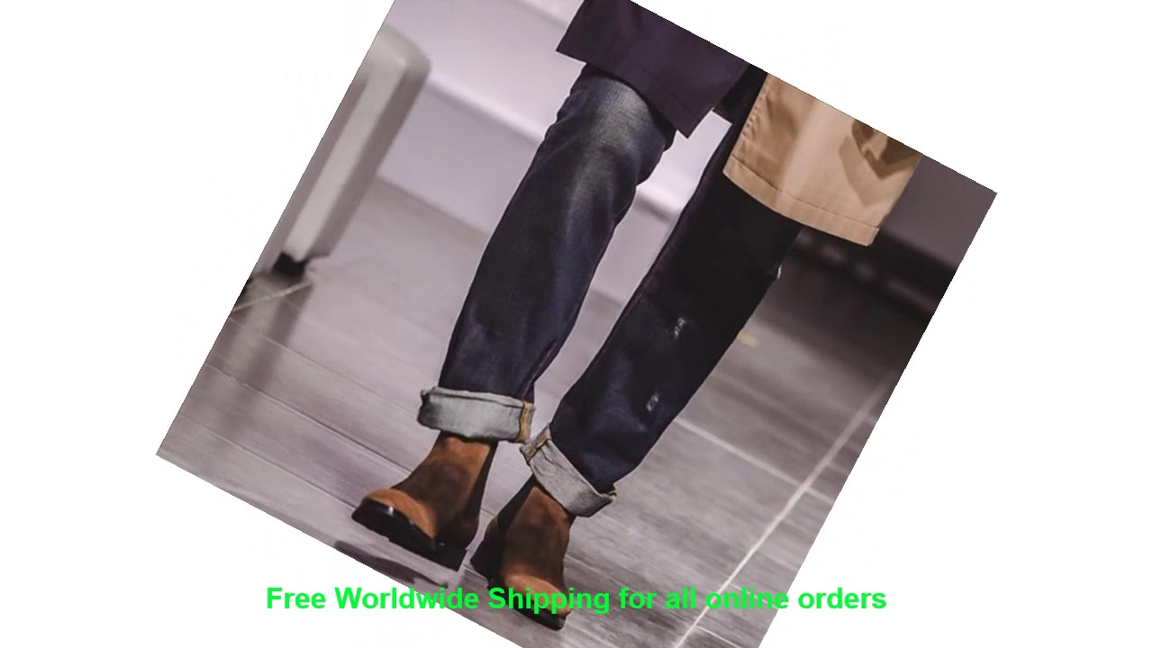Review Vikeduo Mens Handmade Chelsea Boots 2019 Winter Suede Boot Male
