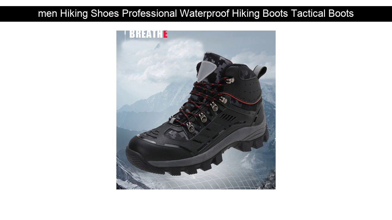 Hot Offer!  men Hiking Shoes Professional Waterproof Hiking Boots Tactical Boots Outdoor Mountain C