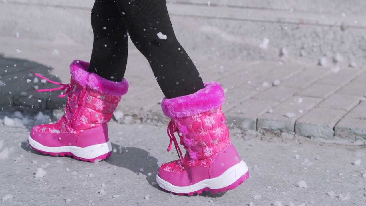 DRKA kids warm snow boots winter shoes, have a adorable winter