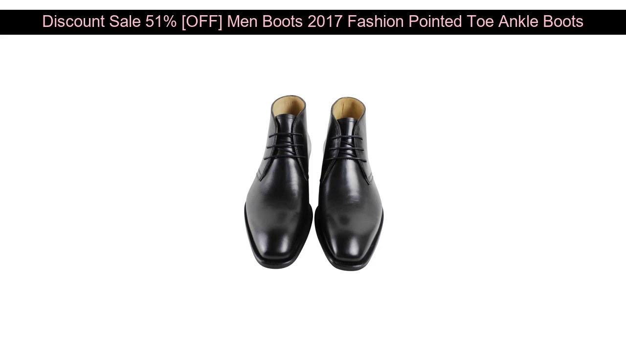 √ Deal Promo 51% [OFF] Men Boots 2017 Fashion Pointed Toe Ankle Boots Casual Men Genuine Leather Bo