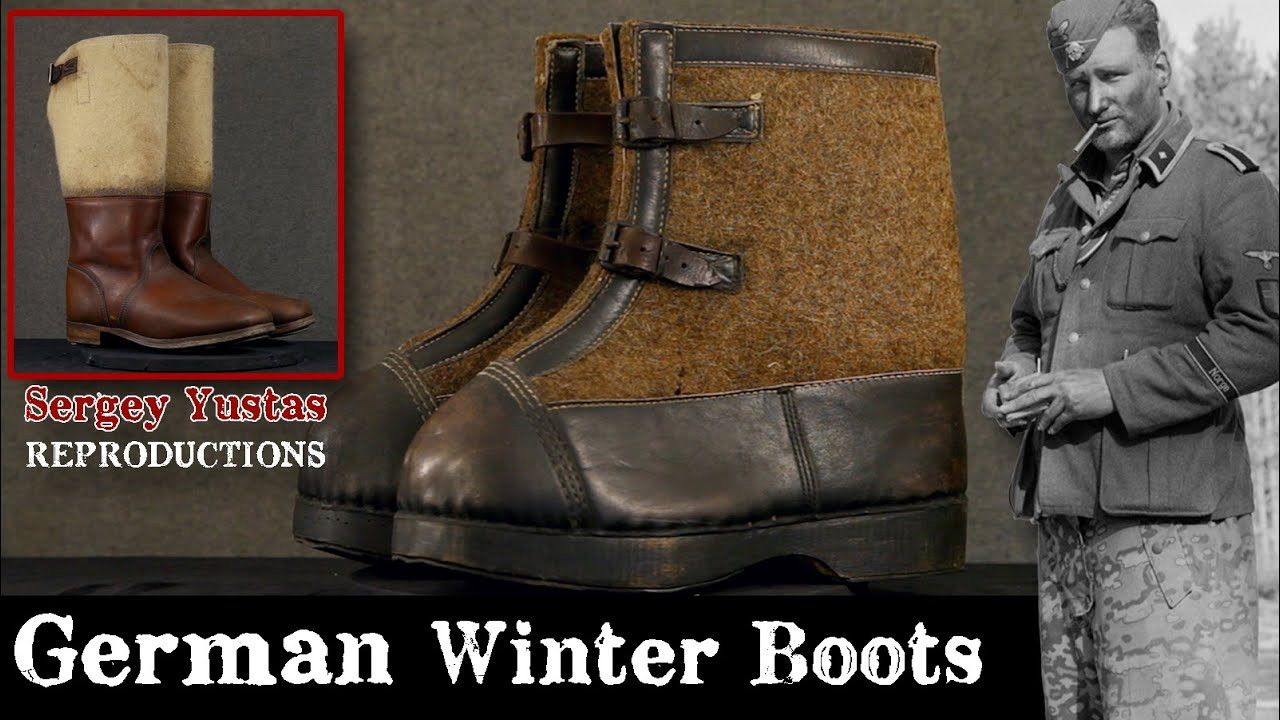 German WWII Winter Boots and Reproductions made by Sergey!