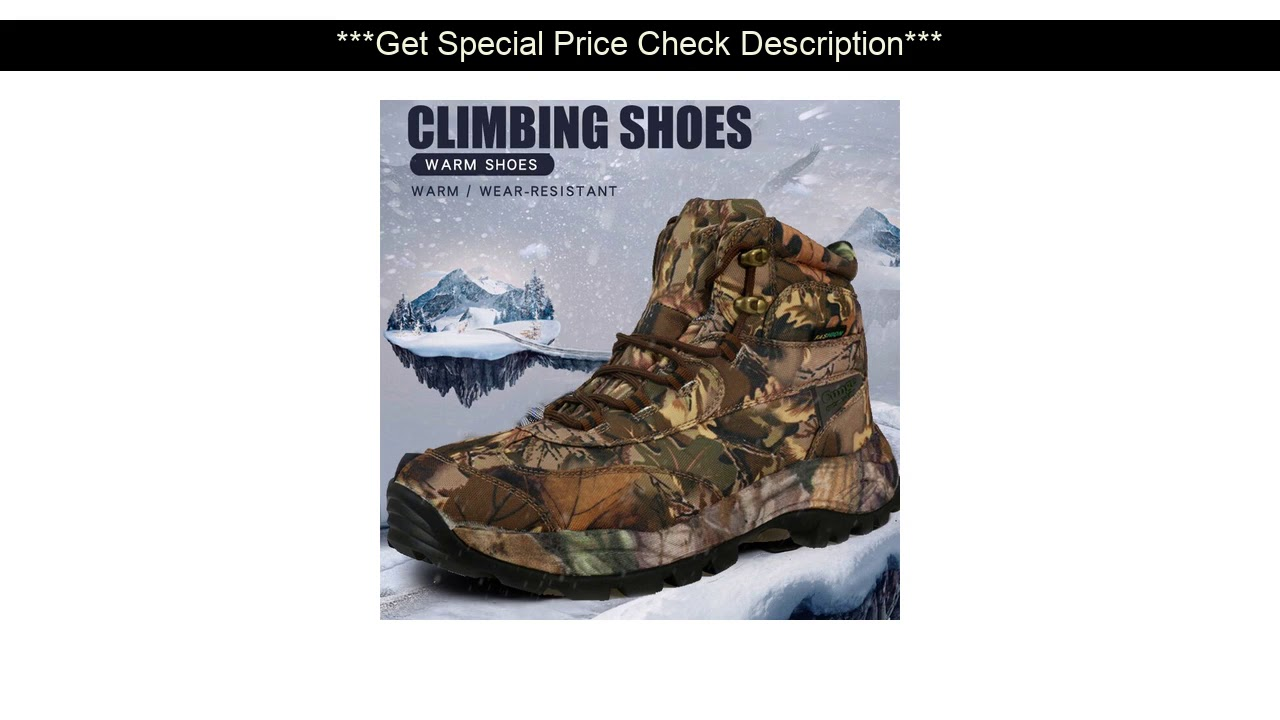 Best Seller!  Me Hiking Boots Waterproof Hunting Shoes Tactical Camping Winter Climbing Boot Genuin