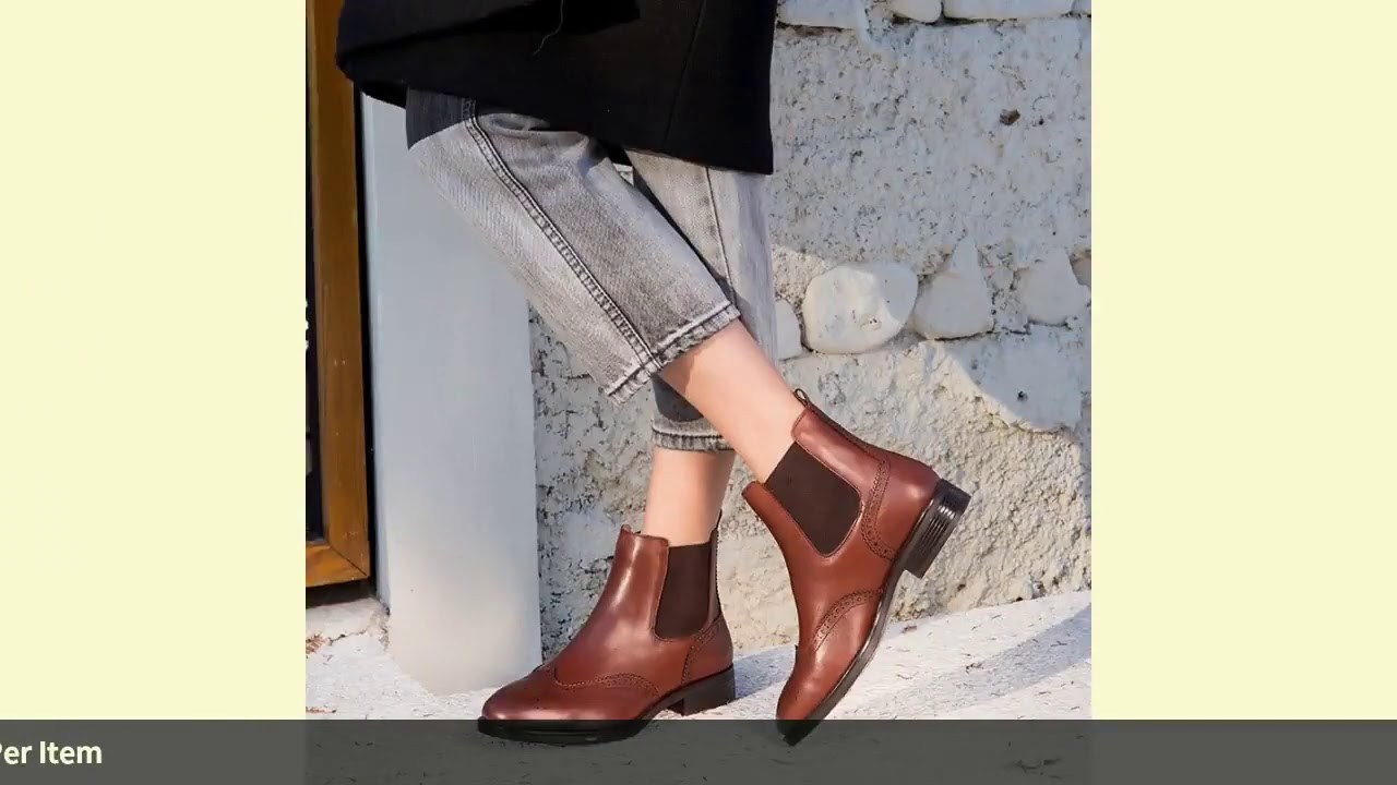Chelsea Boots Women Brogue Boot BeauToday Brand Genuine Leather Wingtip Quality Calfskin Ankle Sh…