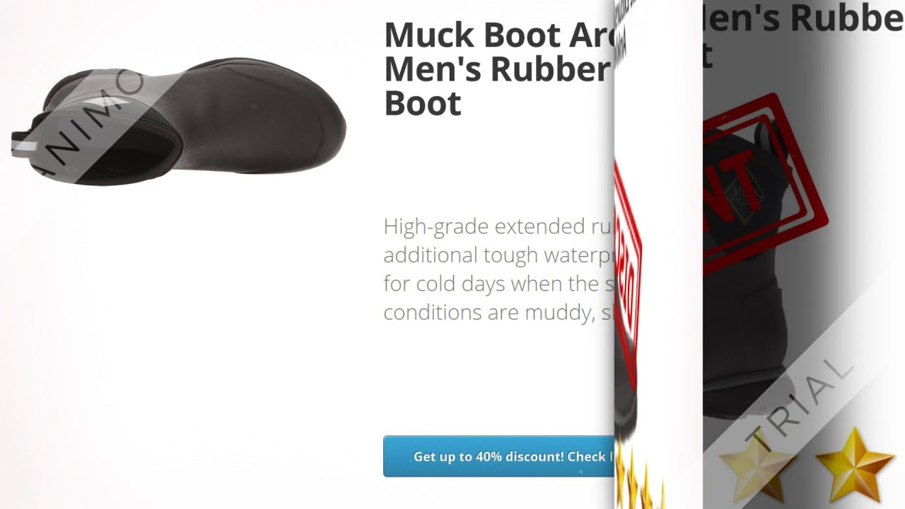 Muck Boot Arctic Excursion Men's Rubber Winter Ankle Boot  | Review and Discount