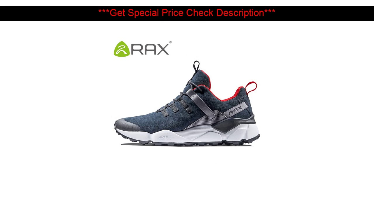 Hot Promo!  RAX 2017 New Men's Suede Leather Waterproof Cushioning Hiking Shoes Breathable Outdoor