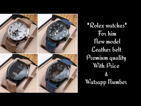 *Rolex watches* For him / New model Leather belt / Premium quality / Price 690 Free shipping