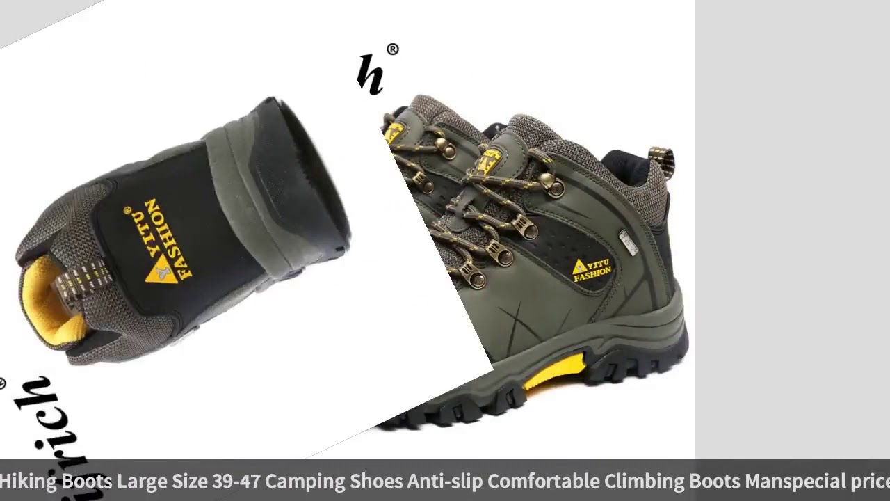 Winter Sneakers for Men Gray Army Green Man Hiking Boots Large Size 39 47 Camping Shoes Anti slip…