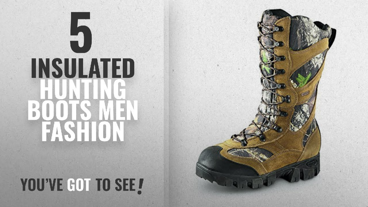Top 10 Insulated Hunting Boots [Men Fashion Winter 2018 ]: Guide Gear Giant Timber II Men's 1400