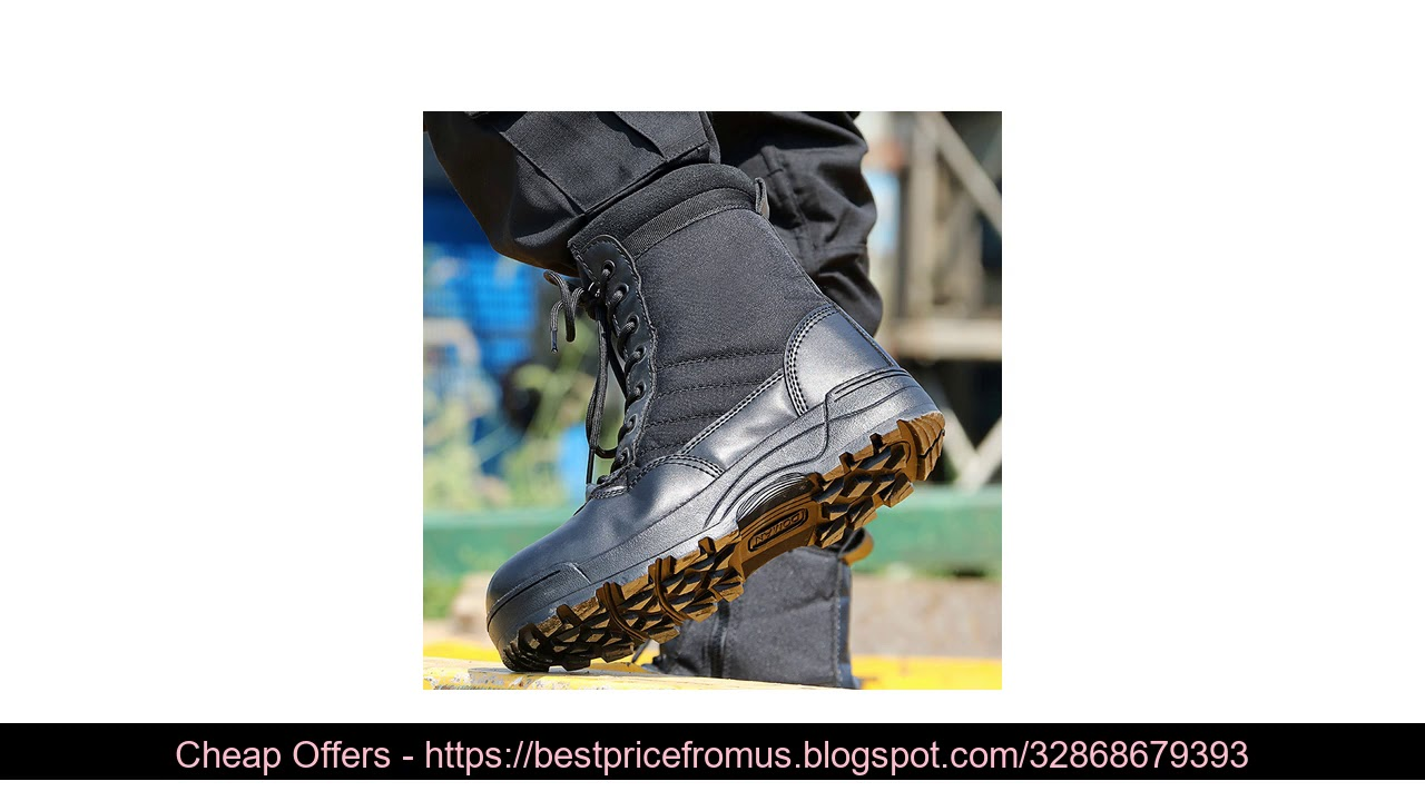 ❄️  Men Desert Tactical Military Boots Mens Working Safty Shoes Army Combat Boots Militares Tactico