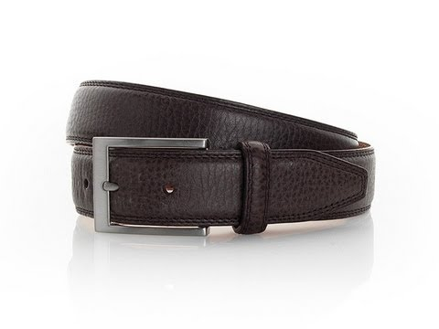 Brown Casual Leather Belt from Samuel Windsor