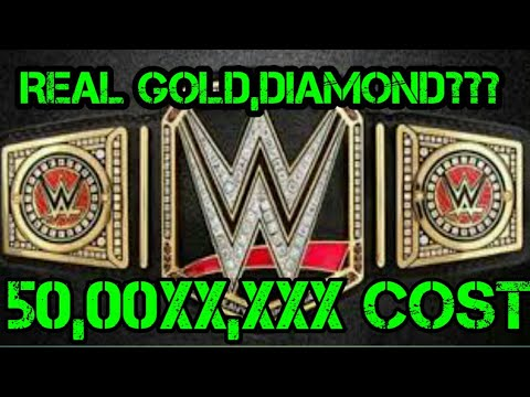 Wwe championship belt cost Real gold or diamond???