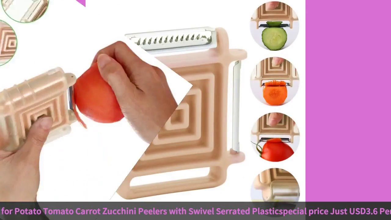 3 in 1 Vegetable Peeler for Potato Tomato Carrot Zucchini Peelers with Swivel Serrated Plastic-in…