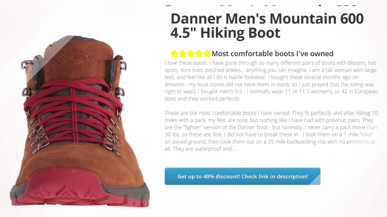 """Danner Men's Mountain 600 4.5"""" Hiking Boot  
