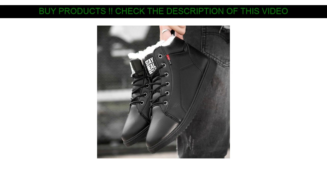 Promo Winter Ankle Boots Sneakers Men Casual Shoes Pu Lace-Up Waterproof Snow Boots For Male Adult