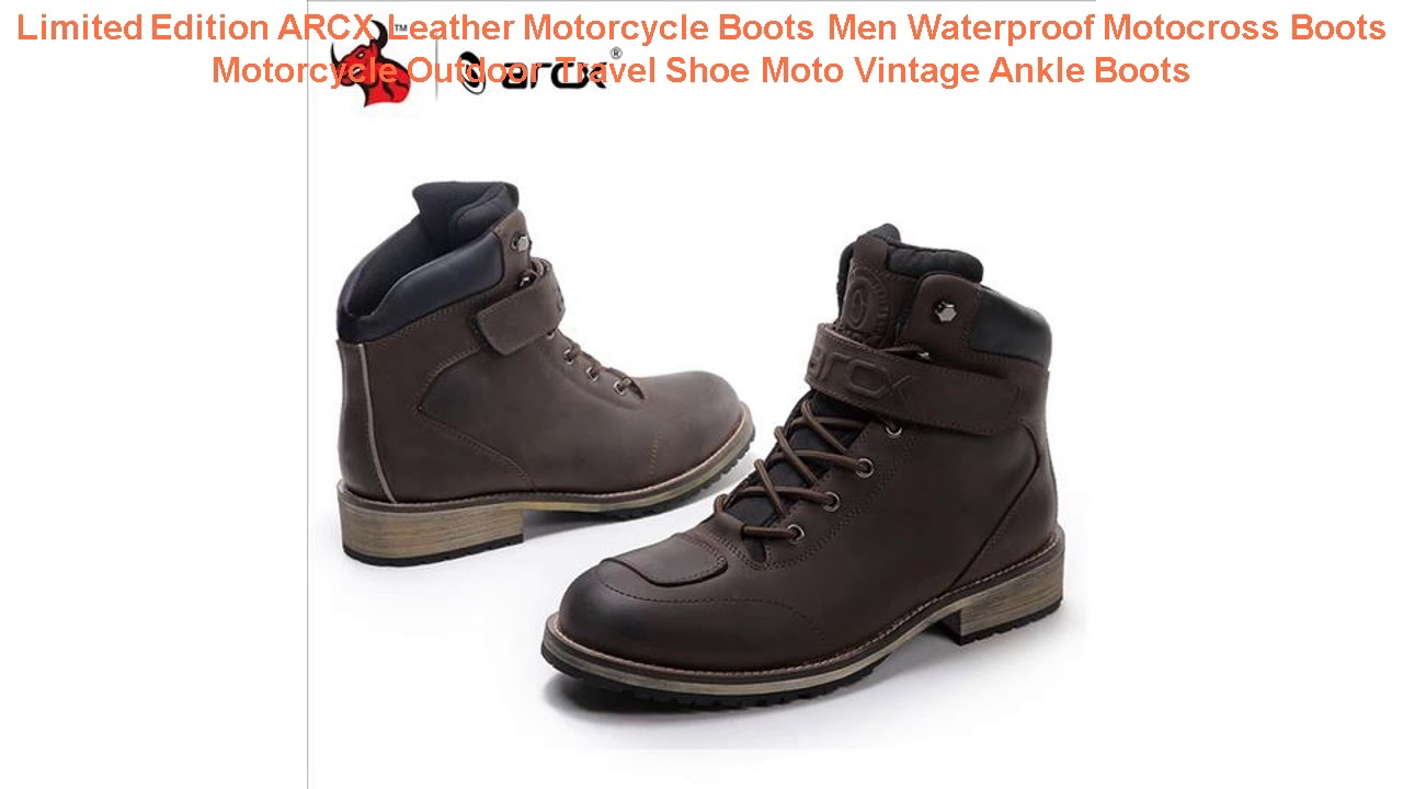 Limited Edition ARCX Leather Motorcycle Boots Men Waterproof Motocross