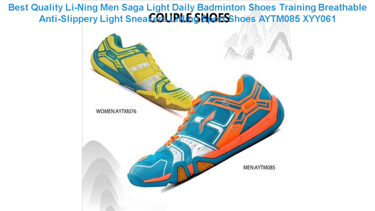 Best Quality Li-Ning Men Saga Light Daily Badminton Shoes Training Bre