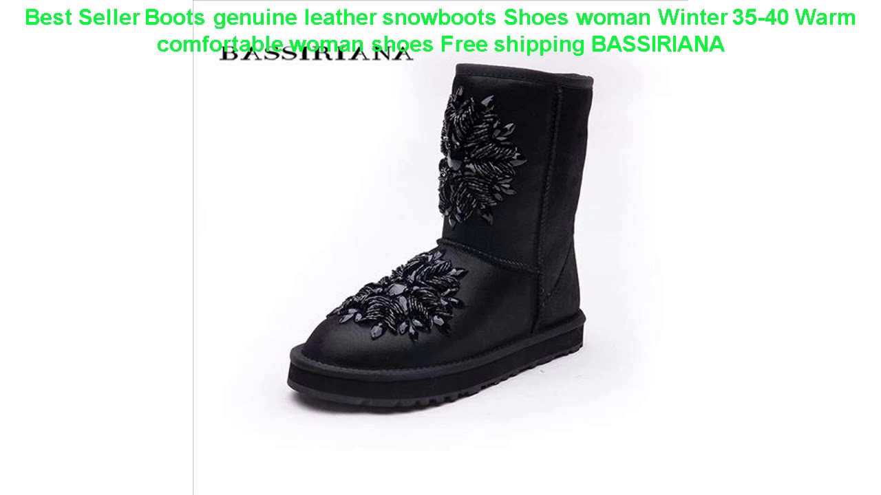 Best Seller Boots Genuine Leather Snowboots Shoes Woman Winter 35-40 W