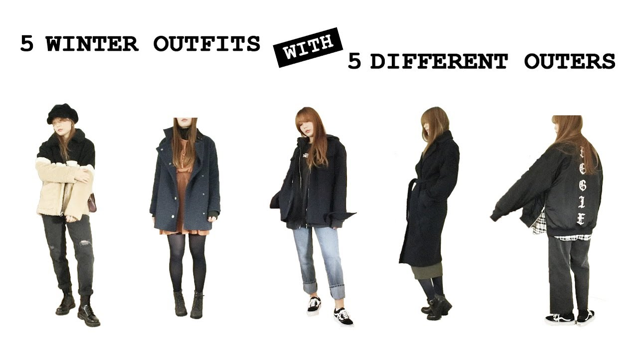 5 WINTER OUTFITS WITH 5 DIFFERENT OUTERS   Outfit Ideas   AERIN