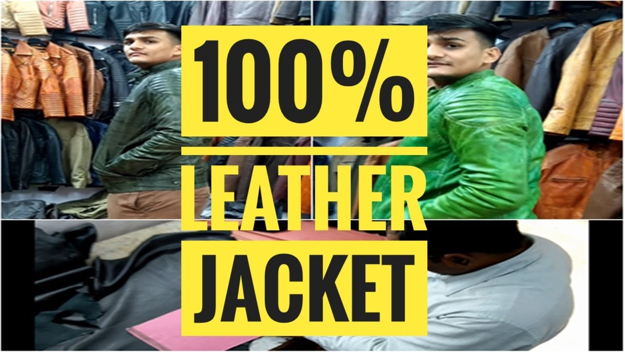 PURE LEATHER JACKETS IN DELHI | Leather Belt, Gloves | Leather Jacket Wholesale Market In Delhi