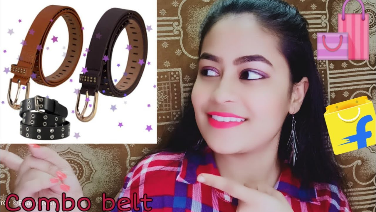 FLIPKART ARTIFICIAL LEATHER WOMEN BELT UNBOXING AND REVIEWS BY BEAUTY N SHY