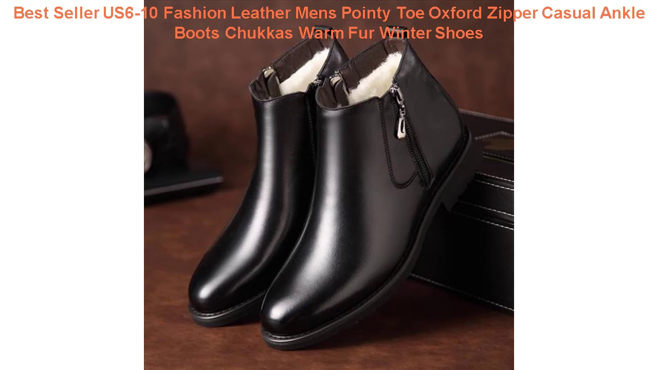 Best Seller US6-10 Fashion Leather Mens Pointy Toe Oxford Zipper Casua