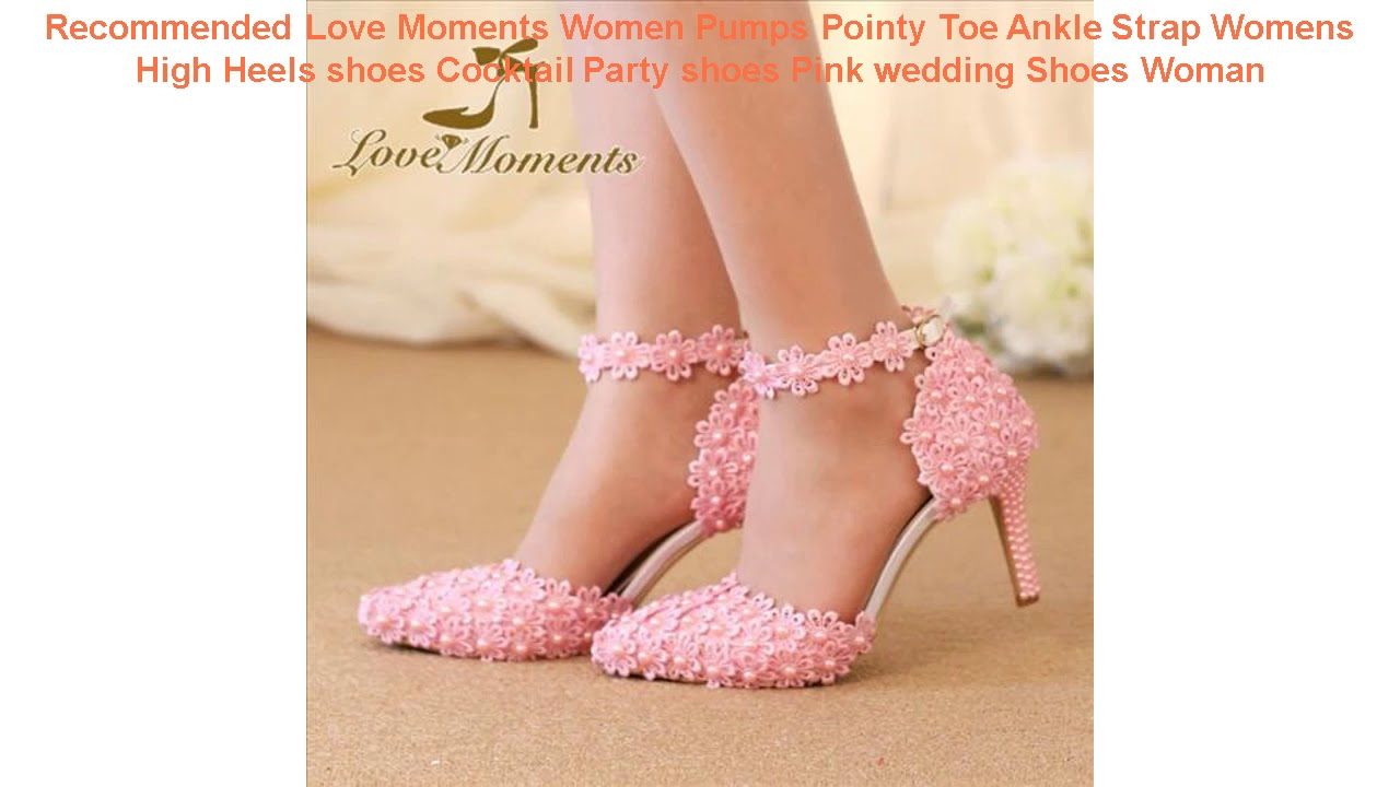 Recommended Love Moments Women Pumps Pointy Toe Ankle Strap Womens Hig