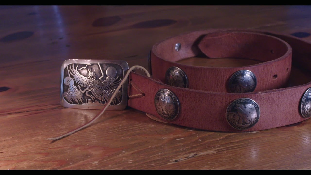 Hermann Oak Harness Leather Belt With Silver Coin / ハーマンオーク ハーネスレザー ベルト、コインコンチョ