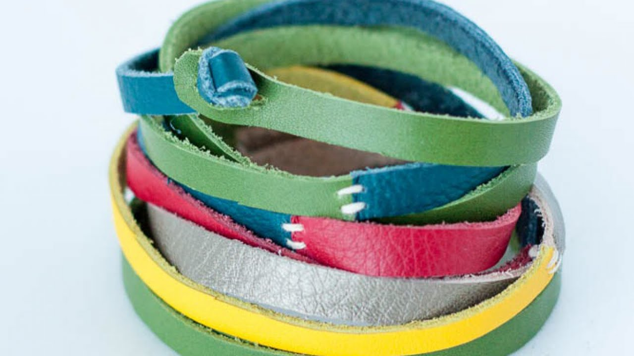 Make A Skinny Colorful Leather Belt – DIY Style – Guidecentral
